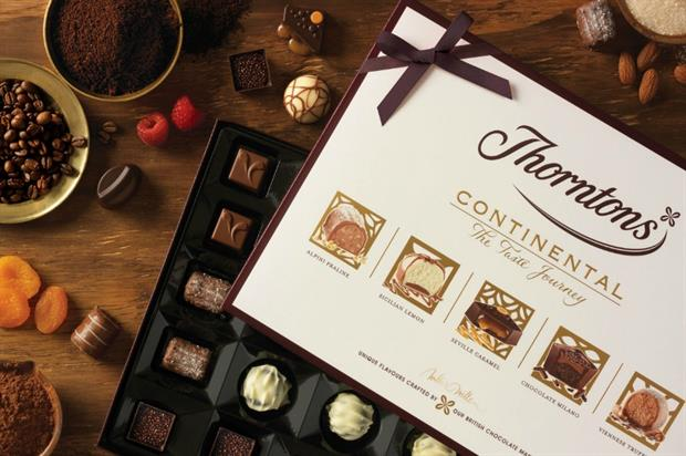 Thorntons has re-launched its Continental collection with five new flavours