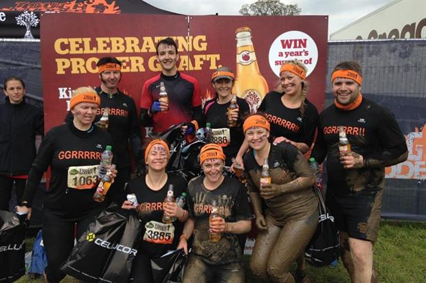 Tough Mudder finishers will receive a complimentary bottle of Kingstone Press cider (bananakick.com)