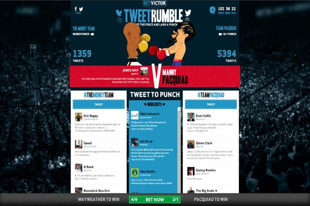 Betvictor enlisted VCCP to create its TweetRumble campaign