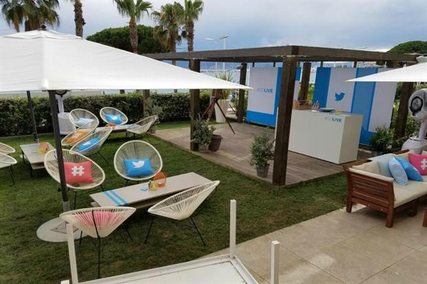 Twitter: beach experience at this year's Cannes Lions
