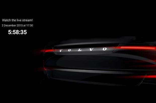 Volvo's new model will be unveiled via live stream later today (2 December)