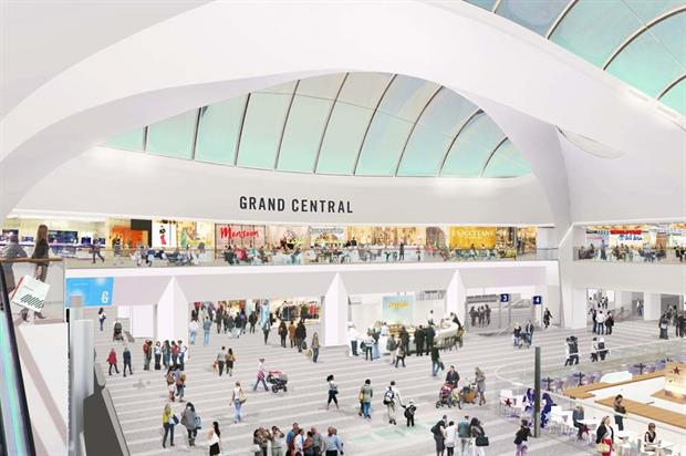 An artistic impression of Birmingham's Grand Central