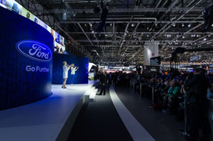 Musicians play in virtual orchestra at Geneva Motor Show