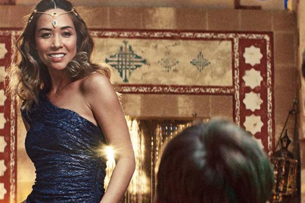 Myleene Klass plays a genie in Littlewoods' Christmas TV ad