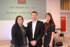 The NEC team showcased its live events offering yesterday to event agencies