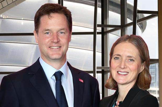 Deputy PM Nick Clegg with the SECC's Kathleen Warden