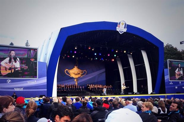 Amy MacDonald on stage at Ryder Cup opening ceremony