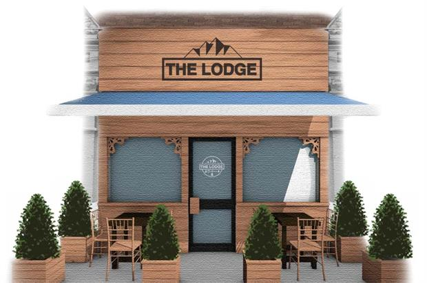 Garcia's latest pop-up, The Lodge