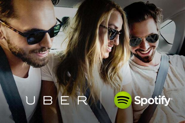 Uber and Spotify team up for global activations