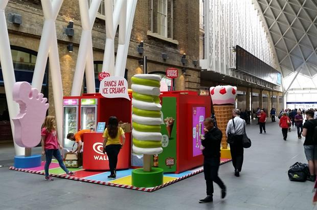 Walls' ice cream store has popped up at King's Cross station