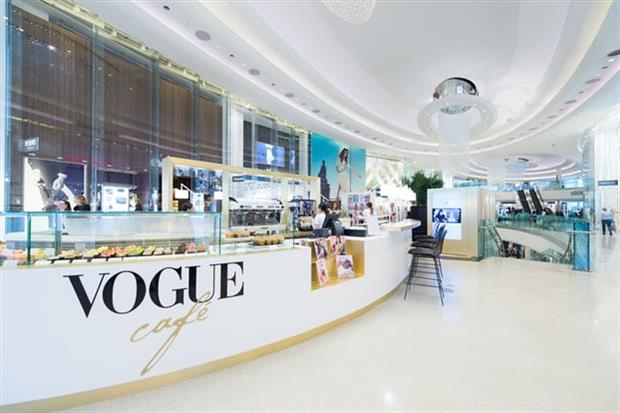 British Vogue has opened a pop-up café at Westfield London