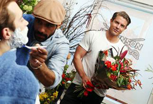 Men will be able to swap beards for bouquets tomorrow with Wilkinson Sword