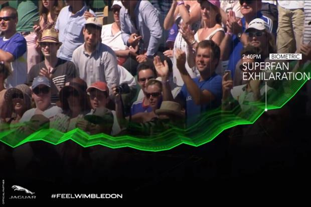 The video looks at audience emotion at key events during the first week of Wimbledon