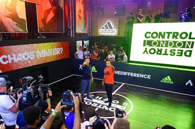 Footballers Kieran Gibbs and Theo Walcott attended Adidas' VIP opening night