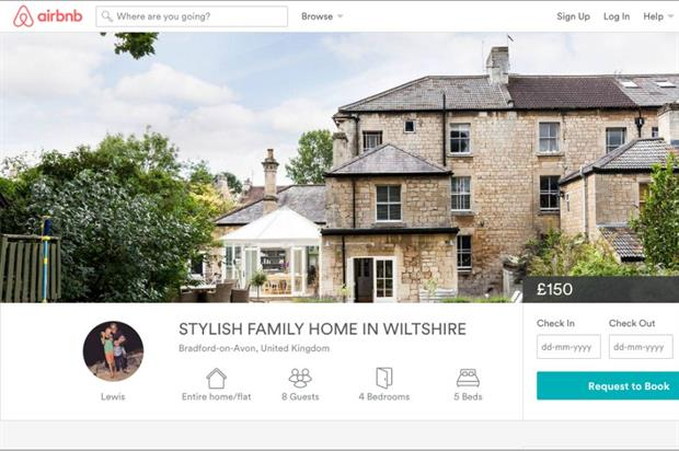 The Wiltshire home is available to book through Airbnb (airbnb.co.uk)