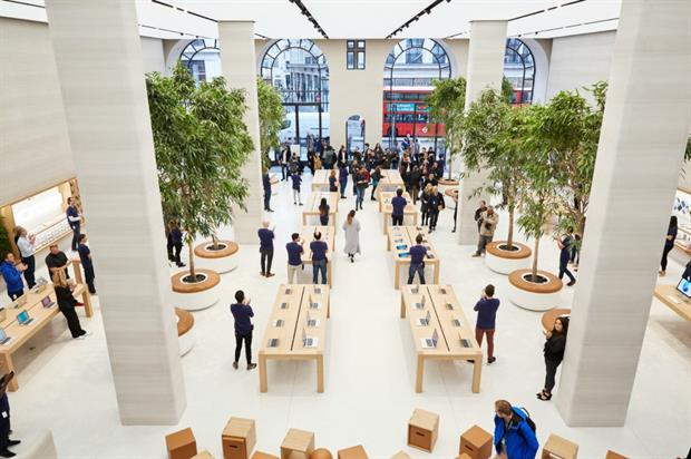 Apple: events to celebrate reopening of its Regent Street store