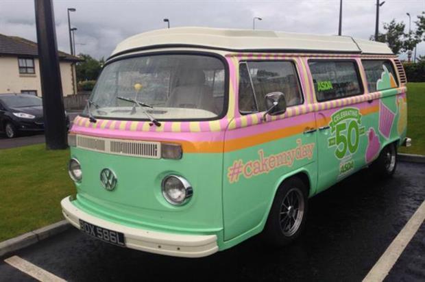 Asda's #cakemyday van is making its way around the UK (@asda)