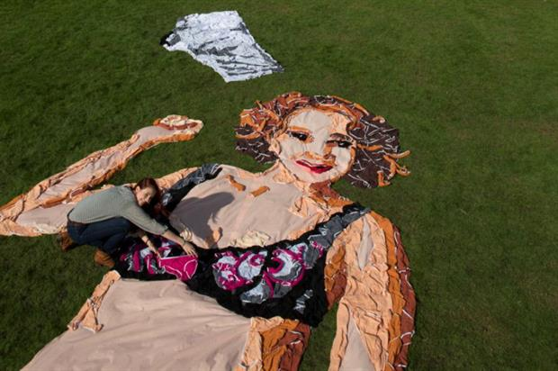 The Pantstallation was unveiled in Greenwich Park