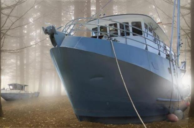 Jerram's work will feature a number of abandoned boats