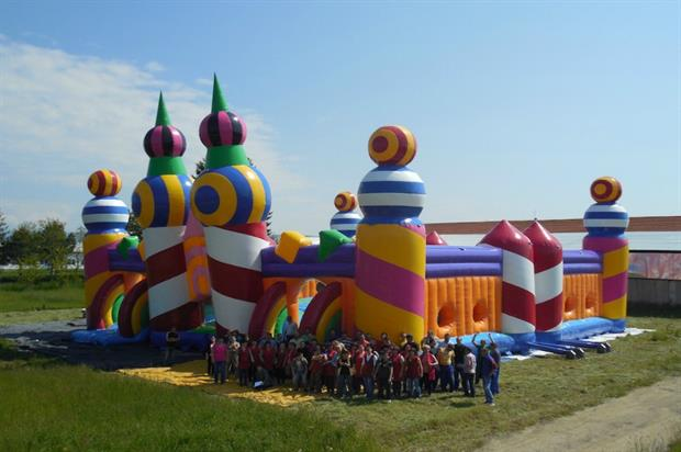 The giant bouncy castle will feature at a number of festivals this summer