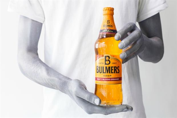 Bulmers will strip the entire venue of colour, excluding its bottles