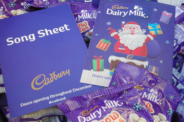 Cadbury has been dishing out chocolate treats to passers-by on its advent calendar truck tour
