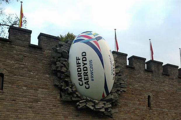 The Gilbert ball was installed last night (17 September) (@cardiffcouncil)