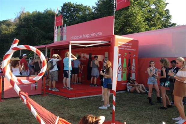 V Festival: the 2015 event saw activations from brands including Coca-Cola