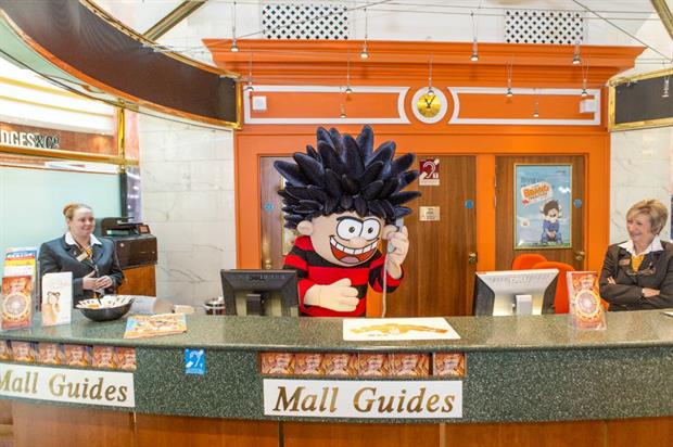 The Beano will take over Intu centres during the school holidays