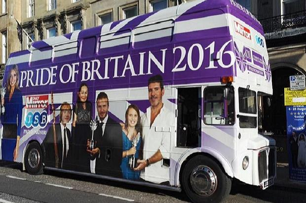 The Pride of Britain bus