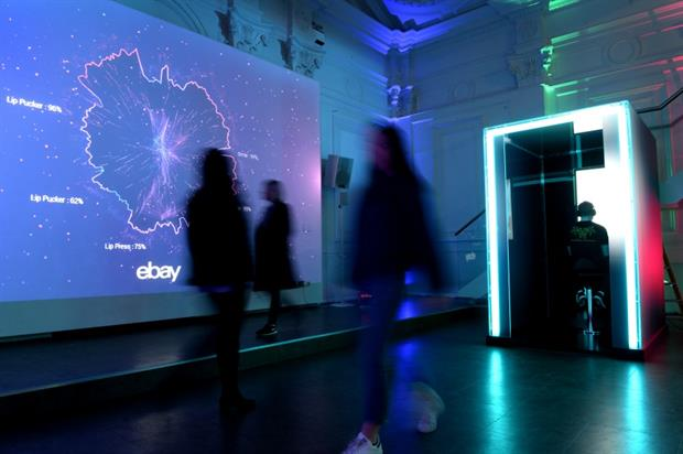 Ebay top open world's first emotion-powered pop-up