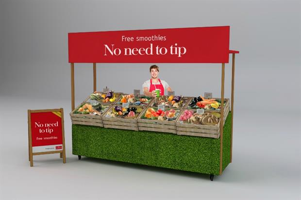 The activation is designed to challenges consumers perceptions about fresh produce