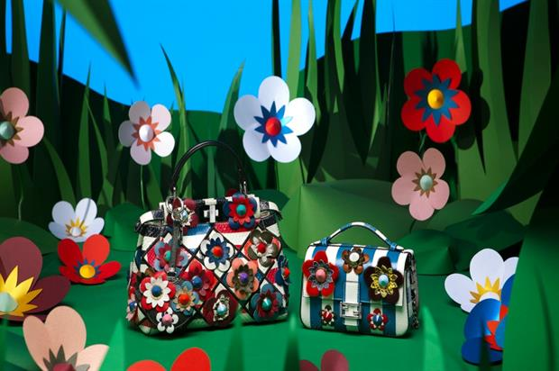 Fendi's Flowerland pop-up will be open for a month at London's Selfridges