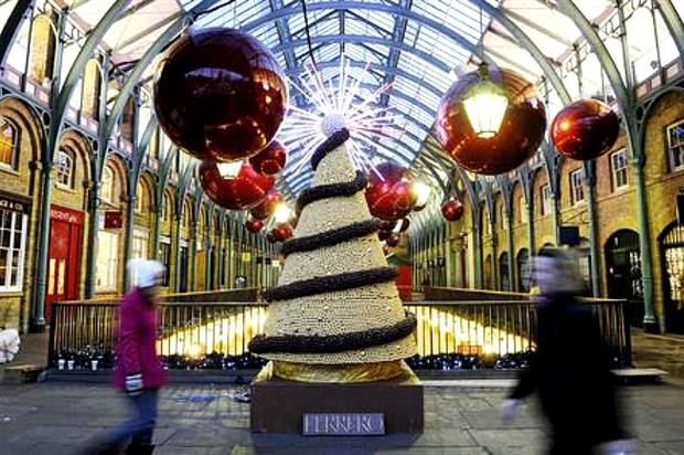 Ferrero used 10,000 chocolates in its edible Christmas tree