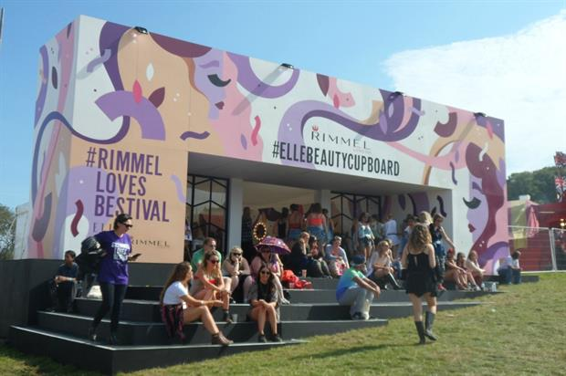 Rimmel and Elle's Beauty Cupboard featured at Bestival in 2015