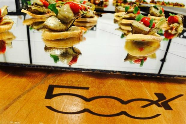 The London Kitchen catered for the launch of the Fiat 500X