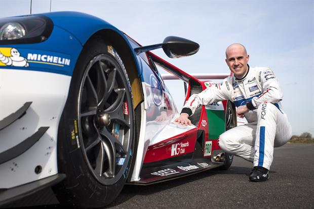 Racing driver Mario Franchitti was on hand to give Ford's fans safety tips