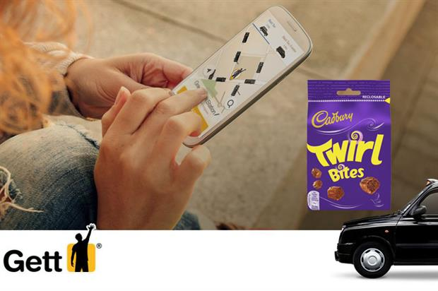 Sharing bags of Twirl Bites will be available to order via the app (Cadbury/Gett)