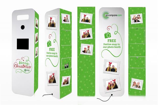 Gocompare.com will offer visitors to the show the chance to have a free festive snap in its photobooth