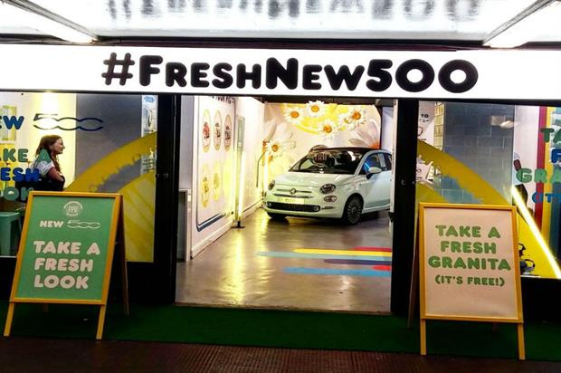 Fiat: granita bar launched in Old Street underground station