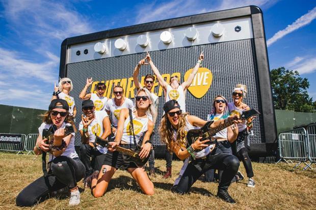 Guitar Hero's The Amp encouraged festival-goers to unleash their inner rock star