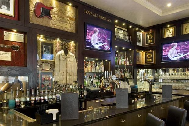 The venue houses over 200 pieces of rock memorabilia, including Eric Clapton's guitar