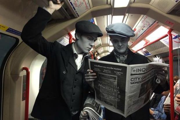 HarperCollins sent paperboys from the 1920s out into the 21st century world