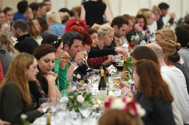 A forest banquet features as part of the festival experience