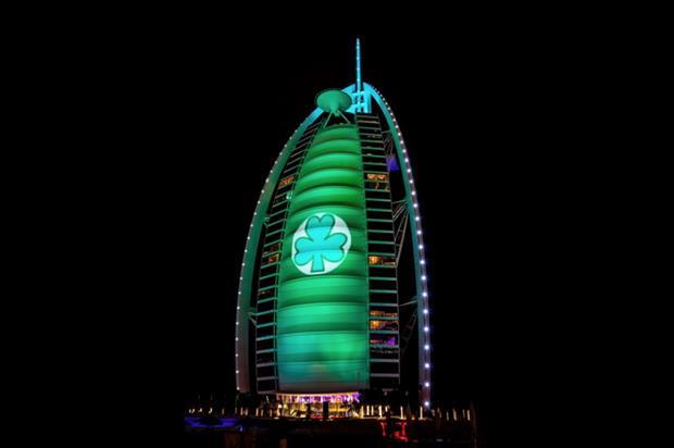 Landmarks across the globe turn emerald as part of Tourism Ireland's Global Greening Initiative in 2015