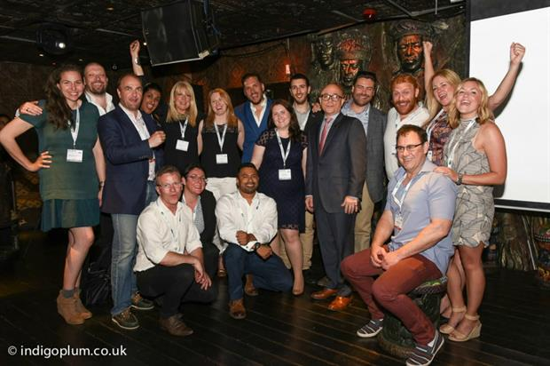 The old and new ISES boards gathered at Shaka Zulu, north London