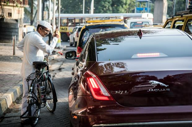 The XJ model raced through the streets of Mumbai (Anthony Cullen)
