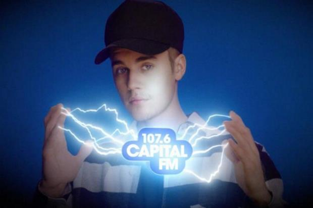 Justin Bieber features in the launch advertising campaign