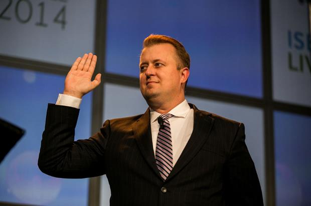 White takes his oath of office
