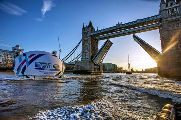 Land Rover kicked off its Rugby World Cup campaign with a Thames stunt